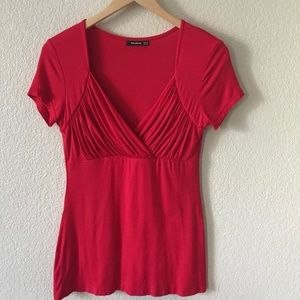 Red Empire Knit Top